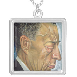 Portrait of Sergey Rakhmaninov  1930 Silver Plated Necklace