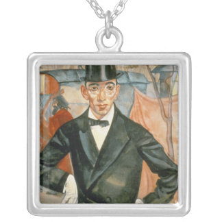 Portrait of Sherling Silver Plated Necklace