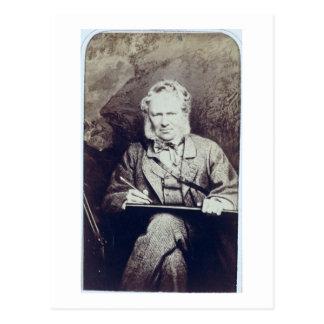 Portrait of Sir Edwin Landseer (1802-73) (albumen Postcard