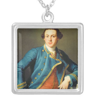 Portrait of Sir John Armytage Silver Plated Necklace