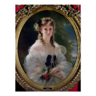 Portrait of Sophie Troubetskoy  Countess of Poster