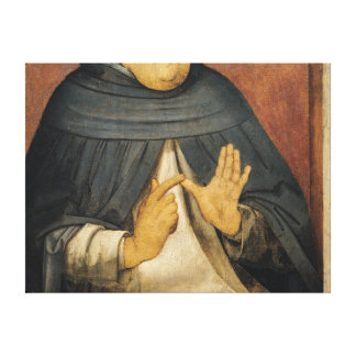 Portrait of St. Thomas Aquinas  c.1475 Canvas Print