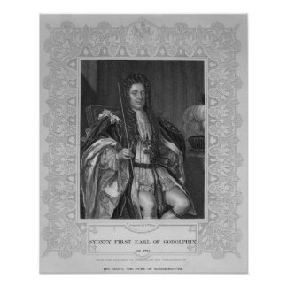 Portrait of Sydney, First Earl of Godolphin Poster