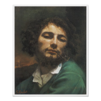 Portrait of the Artist, Man with a Pipe, 1848-49 Posters