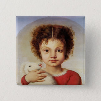 Portrait of the Artist's Daughter, Lina 15 Cm Square Badge