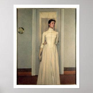 Portrait of the artist's sister, Marguerite Khnopf Poster