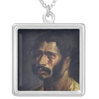 Portrait of the Carpenter of 'The Medusa' Silver Plated Necklace