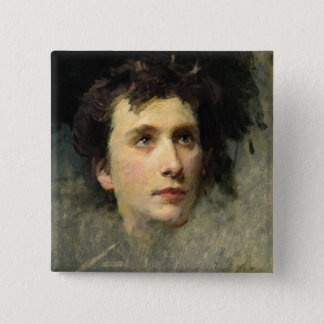 Portrait of the composer Pyotr Ilyich 15 Cm Square Badge