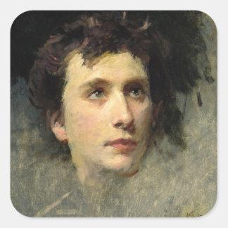 Portrait of the composer Pyotr Ilyich Square Sticker