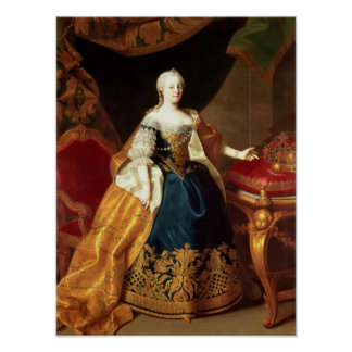Portrait of the Empress Maria Theresa Posters