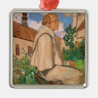Portrait of the geneticist Johann Gregor Christmas Ornament