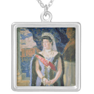 Portrait of the Grand Duchess Maria Pavlovna Silver Plated Necklace