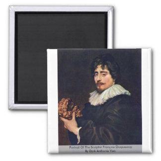 Portrait Of The Sculptor François Duquesnoy Square Magnet