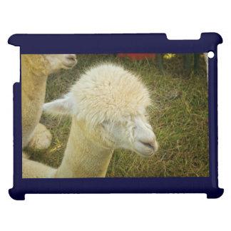 Portrait of White Alpaca iPad Cover