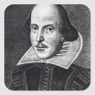 Portrait of William Shakespeare Square Sticker