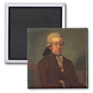 Portrait of Wolfgang Amadeus Mozart 2 Magnet