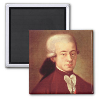 Portrait of Wolfgang Amadeus Mozart  after 1770 Magnet
