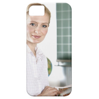 portrait of young female teacher in classroom iPhone 5 cases
