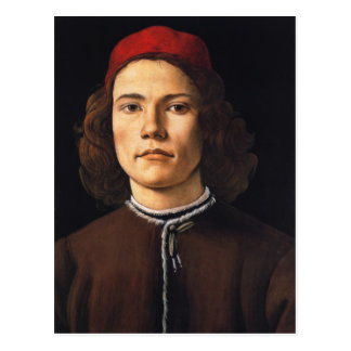 Portrait of Young Man postcard
