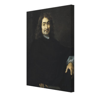 Portrait, presumed to be Rene Descartes Canvas Print