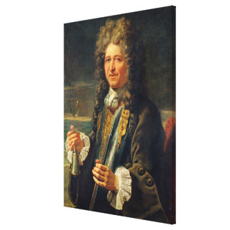 Portrait presumed to be Sebastien le Prestre Canvas Print