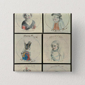 Portraits of Mary I  Edward IV 15 Cm Square Badge