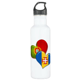Portugal and Madeira hearts 710 Ml Water Bottle