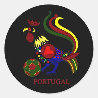 """Portugal barcelos """"galo"""" jogador de futebol classic round sticker"""