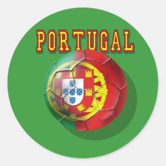 """""""Portugal"""" Bola por Portugueses Classic Round Sticker"""