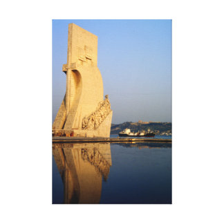 Portugal Discoveries Monument, Tagus River Canvas Print