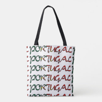 Portugal Flag Color Typography European Country Tote Bag