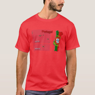 Portugal Flag Map_2 T-Shirt