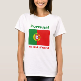 Portugal Flag + Map + Text T-Shirt