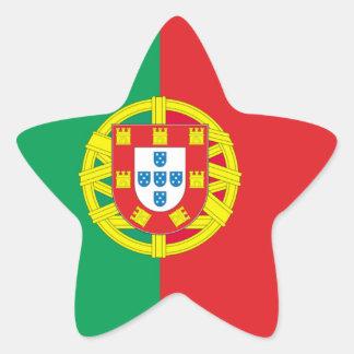 Portugal flag star stickers