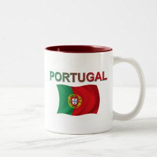 Portugal Flag Two-Tone Coffee Mug