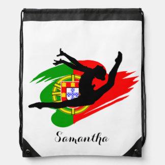Portugal Gymnast Drawstring Bag