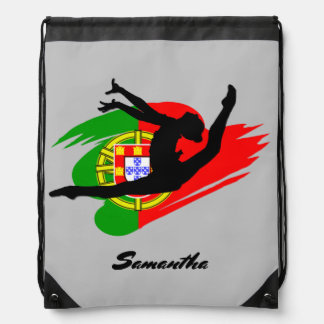 Portugal Gymnast personalized cinch sack backpack