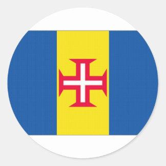 Portugal Madeira Flag Classic Round Sticker