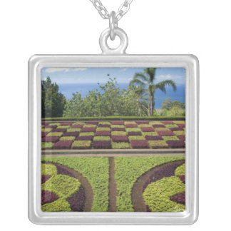 Portugal, Madeira Island, Funchal. Botanical Silver Plated Necklace