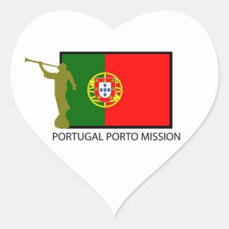 PORTUGAL PORTO MISSION LDS CTR HEART STICKER
