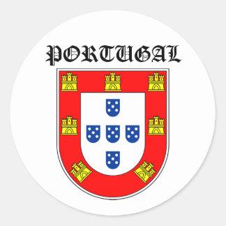 Portugal shield classic round sticker