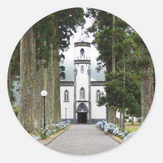Portuguese Church Classic Round Sticker