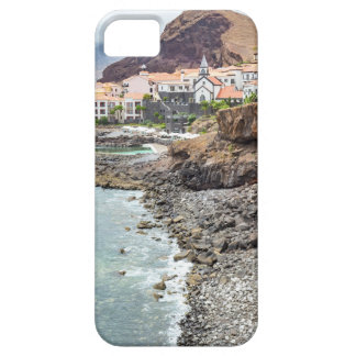 Portuguese coast with sea beach mountains village iPhone 5 cases