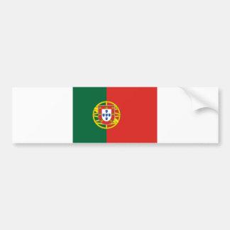 Portuguese flag bumper sticker
