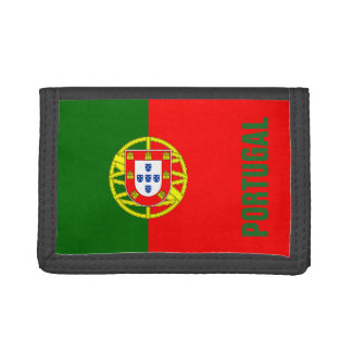 Portuguese flag of Portugal custom velcro wallet