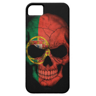 Portuguese Flag Skull on Black Case For The iPhone 5