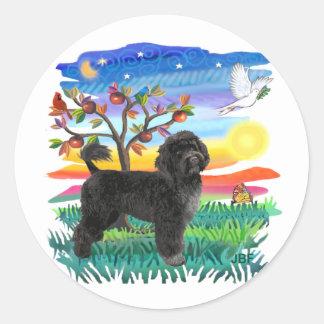 Portuguese Water Dog (#2) Classic Round Sticker