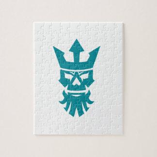 Poseidon Skull Wearing Crown Icon Jigsaw Puzzle
