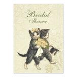 Posh Cats Wedding Custom Invites