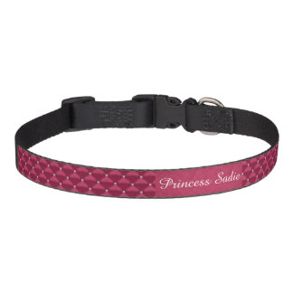 Posh Red Violet & Silver Bling Dog Collars